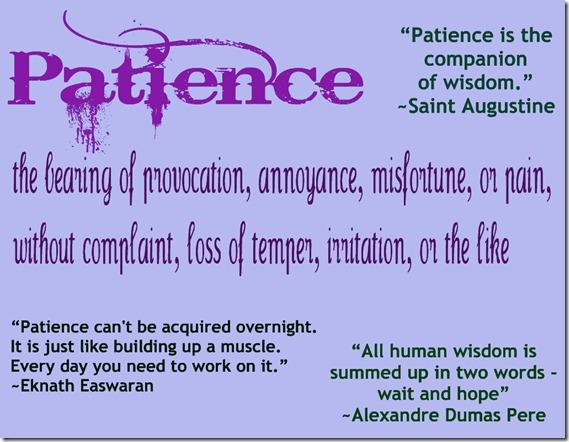 Patience reminder
